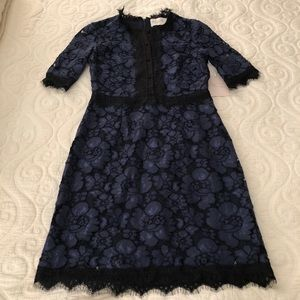 Charles Henry Royal Blue Lace Dress